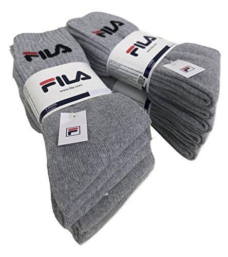FILA. 6/12 paia calze calzini, calzini sportivi in spugna, altezza met polpaccio,calzini...