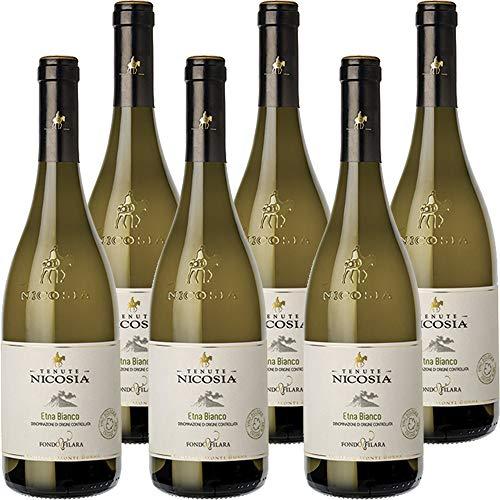 Etna Bianco Fondo Filara   Biologico   Tenute Nicosia   Vino Bianco Doc della Sicilia   Confezione 6 Bottiglie da 75 Cl   Idea Regalo