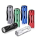 LED Mini Flashlights, WdtPro Super Bright Flashlight with Lanyard, Assorted Colors - Best Tac Torch Light for Kids, Night Reading, Power Outages, Camping(6 Pack)
