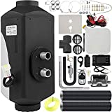 Happybuy 5KW Diesel Air Heater 12V Diesel Parking Heater Muffler 5KW Diesel Heater Remote Control with LCD Thermostat for RV Bus Trailer Motorhome and Boats