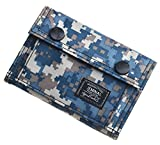 JEMINAL Men's Camo Printed Bifold Wallet Teens Boys Wallets for Kids