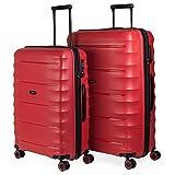 JASLEN - Juego Maletas rígidas 4 Ruedas Polipropileno PP. s y Ligeras. candado TSA. tamaños: Mediana y Grande XL 161016, Color Rojo