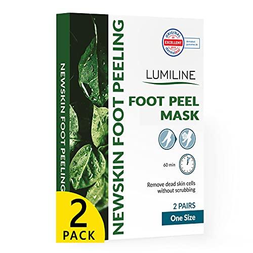 Maschera piedi esfoliante baby foot peeling piedi calzini esfolianti callus peeling foot mask, 2 paia (fino alla taglia 43)