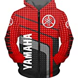 Automne/Hiver Cardigan à Manches Longues Et Col Rond pour Hommes 3D Y-a-m-a-h-a Team Imprimé Dot Stripe Sweat à Capuche Zippé Simple Casual Respirant Sportswear Taille S à 5XL en Option (1,L)