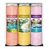 Sales de Nortembio de Epsom Pack 3 x 430 g.  Fragancias de canela, jazmín y rosa.  Hidratarse con ...