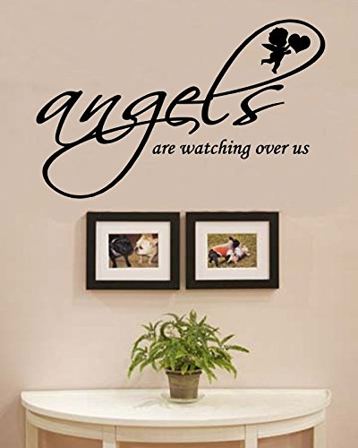 Angels are Watching Over us Vinyl Wall Decals Quotes Sayings Words Art Decor Lettering Vinyl Wall Art Inspirational Uplifting