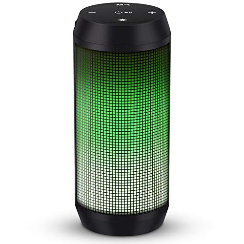 ELEHOT Bluetooth Speaker Portable Wireless with Lights, Stereo Loud Volume, TWS Dual Pairing Speaker...