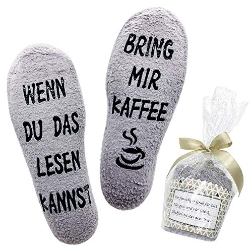 Belloxis Lustige Socken Damen Kaffee Geschenk Wenn Du Das Lesen Kannst Socken