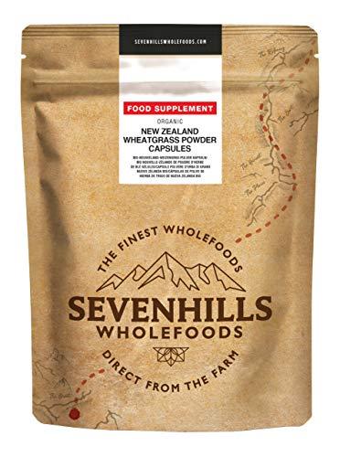 Sevenhills Wholefoods Polvere D'Erba Di Grano Nuovo Zelanda Bio (120 Capsules)