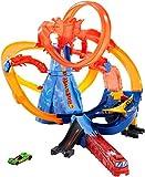 Hot Wheels City Piste Volcan, coffret de jeu de petites voitures avec circuit, Jouet pour enfant, FTD61