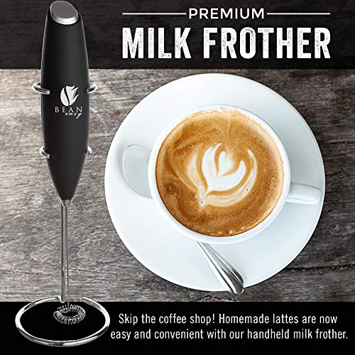 Product Image 5: Bean Envy Milk Frother Handheld - Perfect For The Best Latte - Whip Foamer - Includes <a href=