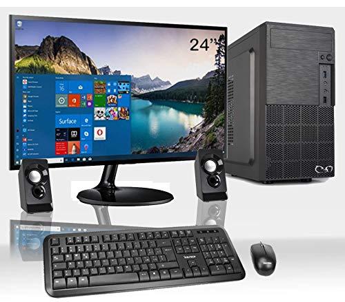 CeO-Tech Delta V1 Ordinateur de Bureau Complet - CPU Intel J4005 2.70GHz 4Mo Cache | RAM 8Go DDR4 | HDD 1000Go | Intel UHD 610 | Graveur DVD| WI-FI | Monitor HD 4K | Win 10 Pro
