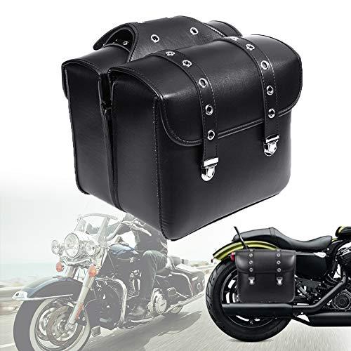 Gfyee Motorrad Satteltasche Seitenkoffer-Satteltasche für Langstreckenreisen Brigade, Werkzeugtasche wasserdichte große Kapazität Schwanz Paket - Motorrad Box Motorradtasche PU-Leder (1 Paar)