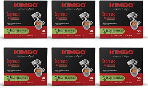Kimbo Caffe' (300) CIALDE CAFFE MISCELA ESPRESSO NAPOLETANO ESE 44MM