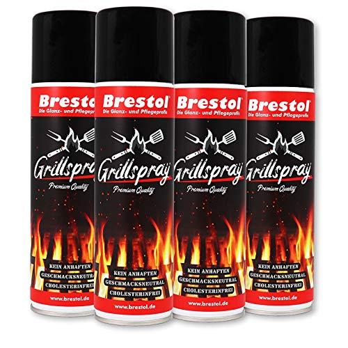 Brestol Grillspray 4X 200 ml (7552.4) - Trennfett zum Grillen Antihaftspray Trennspray Trennmittel Grillen Vegan