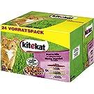 Kitekat Katzenfutter - Nassfutter im praktischen 48 x 100g-Portionsbeutel - verschiedene Sorten