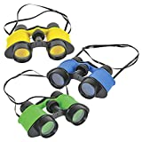 Learning Toy Binoculars Primary Science Exploration Play, Hunting, Hiking, Animal Bird Watching, 3.5' x 5' Inches (3-Pack)