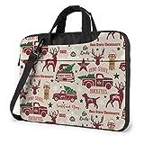 Estuche para computadora portátil, maletín de Renos navideños del Estado de Ohio, Bolso de 15.6 Pulgadas