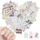 48 hojas de arte de uñas mixtas, Mwoot Etiqueta engomada de la transferencia de agua del arte del...