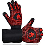 Homemaxs BBQ Gloves,Oven Gloves1472℉ Extreme Heat Resistant, Food Grade Kitchen Grill Gloves,...