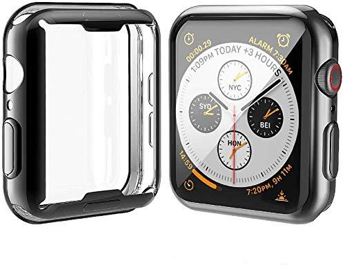 Misxi 【2枚セット】 Apple Watch Series 4 44mm ケース, 全面保護 耐衝撃 メッキ 柔らかい TPU ウオッチ保...