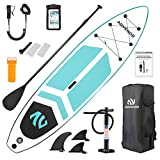 ADVENOR Paddle Board 11'x33 x6 Extra Wide Inflatable Stand Up Paddle Board with SUP Accessories Including Adjustable Paddle,Backpack,Waterproof Bag,Leash,and Hand Pump,Repair Kit (Green)