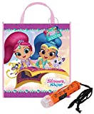 Nickelodeon 'Shimmer & Shine Happy Halloween Trick or Treat Candy Loot Bag!! Plus Bonus Safety First Mini Halloween Flashlight Necklace!