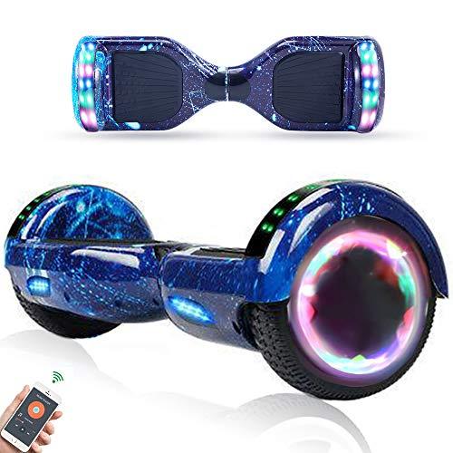 RangerBoard Hoverboard Enfant - 6,5' - Bluetooth - LED - Self Balancing Board Adulte - 700W - Smart Scooter Deux Roues - Skate Électrique Cadeaux Pas Cher - Certifié CE UL2272 - Bleu Ciel Étoilé