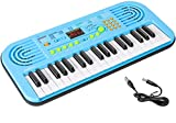 M SANMERSEN Keyboard Piano for Kids, 37 Keys Piano Led Screen Display Electronic Keyboard Piano for Kids Music Learning Kids Piano for Beginner Toys Gifts for 3-12 Year Old Girls Boys Xmas Gifts