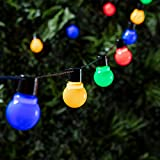 Guirlande Lumineuse Guinguette 30 Boules LED Multicolores pour...