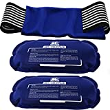 Ice Pack (3-Piece Set) – Reusable Hot and Cold Therapy Gel Wrap Support Injury Recovery, Alleviate...