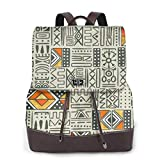 BAGGNICE Mochilas tipo casual Mochilas de marcha 17 Inch Leather Backpack Bohemian Classic Retro Business School Laptop Backpack Travel Shopping Bag for Women