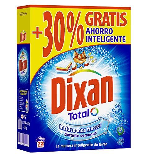 Dixan Detergente Polvo Total para Lavadora - 72 Lavados (3.564 kg)