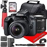 Canon EOS 3000D (Rebel T100) DSLR Camera w/Canon EF-S 18-55mm F/3.5-5.6 III Zoom Lens + Case + 64GB...