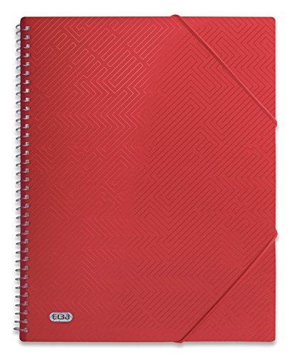 Elba 400101988 - Raccoglitore con rilegatura a spirale Urban Opaco. 1 rosso, 20 custodie