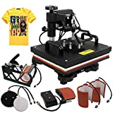 ZENY Heat Press 12''x15'' Pro 6 in 1 Combo Heat Press Machine Digital...