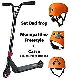 BAD FROG Set Monopattino Freestyle con Casco Abbinato Arancione (Media)