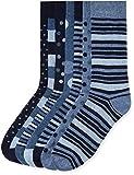 Marque Amazon - find. Chaussettes Homme, Lot de 7, Gris (Blue Mix), 39-43.5 EU, Label: 6-9.5 UK