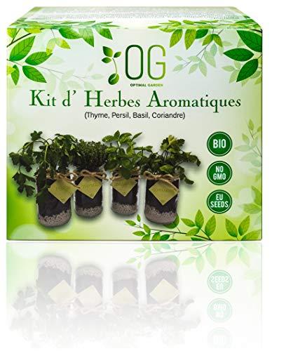 OG Huerto Urbano - Kit Completo de 4 Hierbas aromáticas (To