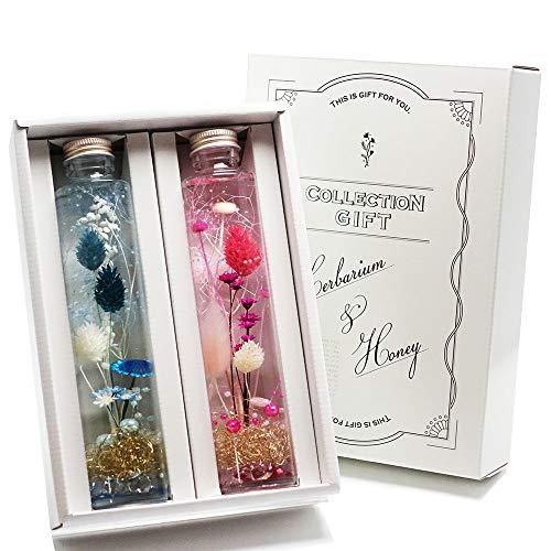 ハーバリウム ( ピンク × ブルー ) 2本セット ギフト箱入 プレゼント などに最適です