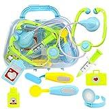Wghz Kids Doctors Kit Kids Doctor Set Mini Toy Kit Simulación Doctor Toolbox Set Child Play House Doctor Juguete Educativo para niños niñas pequeñas Niños (Color: Azul, Tamaño: Talla única)