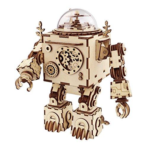 Robotime 3D Puzzle Music Box Wooden...