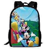 Mic Key Mouse Minnie Goofy Printed Daypack Mochila de Escuela Primaria Mochilas Escolares Mochila Informal para Mujeres Hombres, tamaño 43X28X16Cm