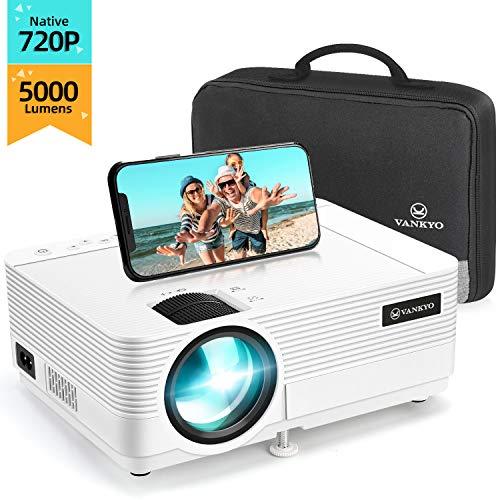 """VANKYO Proiettore 720P Native 5000 Lumen, Videoproiettore Display da 250"""" HiFi Speaker, 2 Porte HDMI, con Borsa..."""