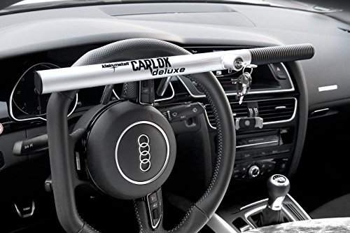 Kleinmetall 60230700 Carlok Deluxe Auto Diebstahlsicherung Lenkradkralle Absperrstange, Silber