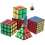 Ensemble de Six Awesome Magic Cubes incl. Pyraminx, 2x2, 3x3, 4x4, 5x5 Puzzle...