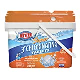 HTH 42034 Super 3-inch Chlorinating Tablets for Swimming Pools, 25 lbs