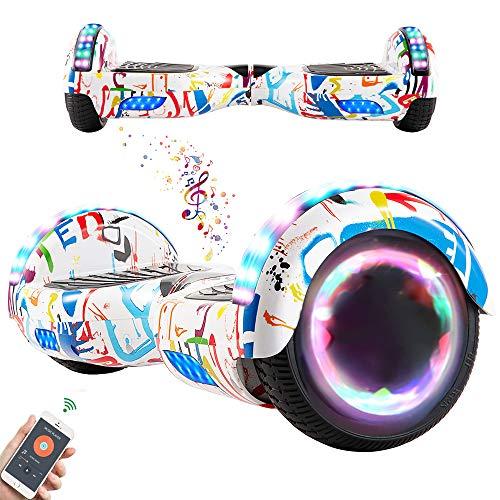 RangerBoard Hoverboard Enfant - 6,5' - Bluetooth - LED Coloré - Self Balancing Board Adulte - 700W - Smart Scooter Deux Roues - Skate Électrique Cadeaux Pas Cher - Certifié CE UL2272 - Graffiti