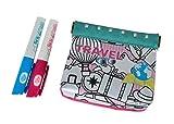 Simba - Porte-Monnaie de Voyage avec 2 marqueurs permanents - Color Me Mine...