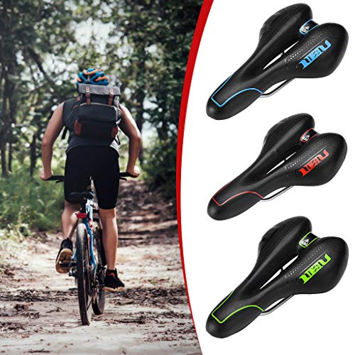 Dissme Fahrradsattel,Fahrradsitz Bequem Atmungsaktiv Fahrradsattelkissen auflage für Herren Damen Universal für Mountainbike Rennrad Sattel Fahrradsattel,28x15 cm